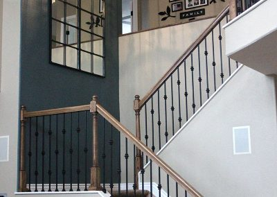 Boulder County Staircase and Fireplace